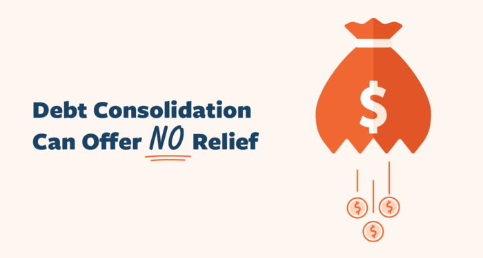 Debt consolidation can offer no relief
